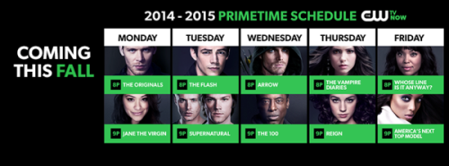 The CW Upfronts 2014 schedule pic